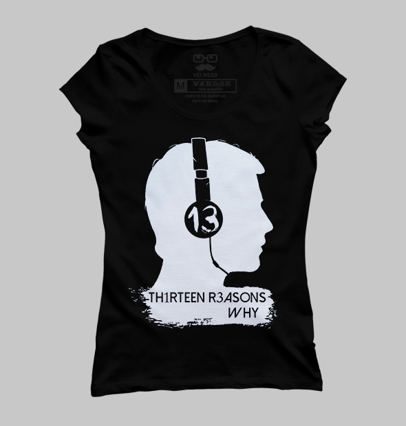 b66d5b8f5 Camiseta 13 reasons why - Véi Nerd