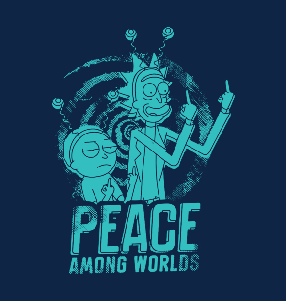 34f26a1998 Camiseta Peace Among - Véi Nerd