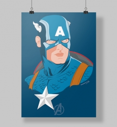 Poster Capitão Minimalista
